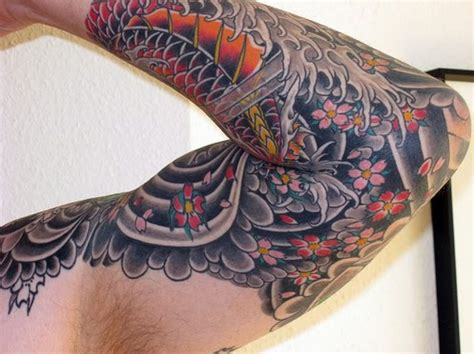 koi dragon sleeve tattoo designs japanese koi fish tattoos water inofashionstyle