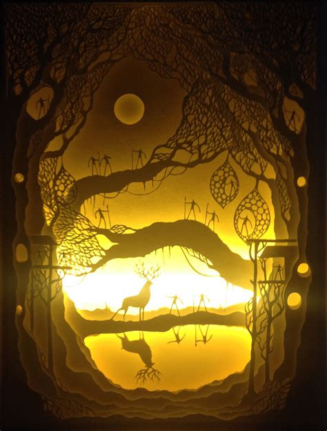 paper cut shadow boxes illuminated by light 171 twistedsifter