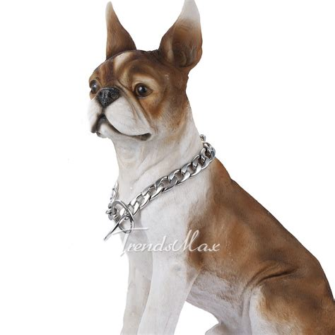 cuban link collar 13mm silver curb cuban link 316l stainless steel chain pet collar 12 30 ebay
