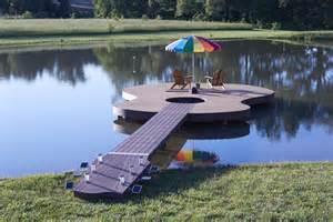 Pond Deck Designs Guitar Shaped Deck Rocks Moistureshield Composite Decking