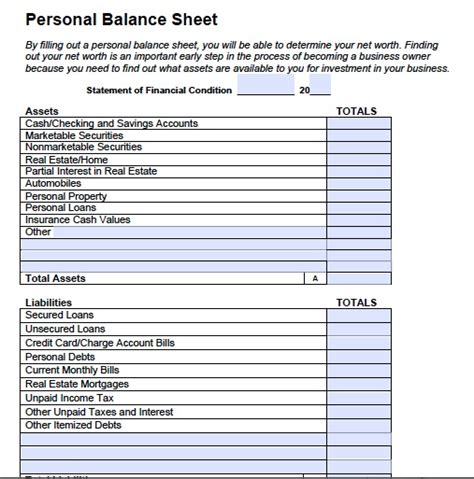 free balance sheet template free printable and blank balance sheet template sles