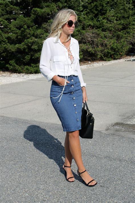 3 ways to wear a denim skirt not another