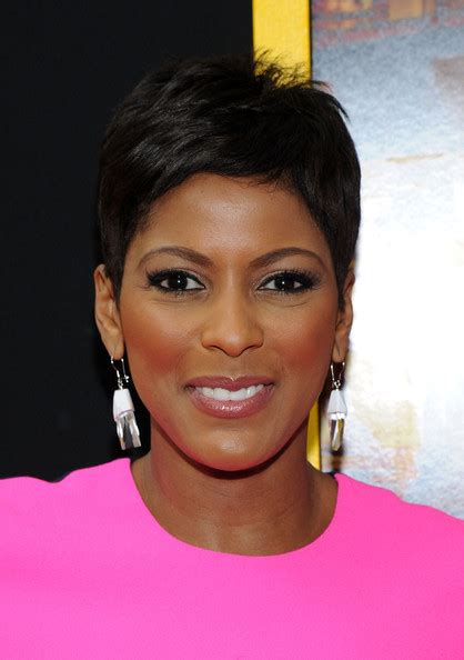 tamron hall haircut tamron hall in belle premieres in nyc zimbio