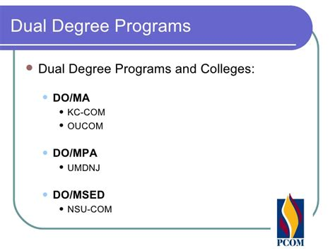 How Many Courses In A Dual Degree Program With Mba by Dual Degree Program At Osteopathic Schools