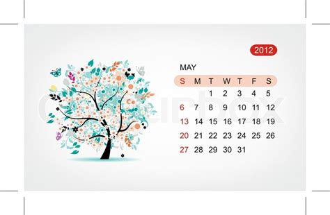 design af kalender vector kalender 2012 kan art tree design stock vektor