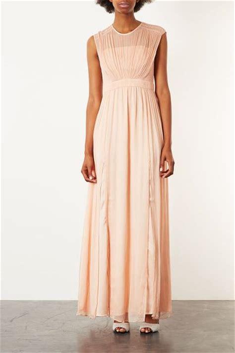 Dress Maxi Dress Dress Raisa Limited Topshop Limited Edition Chiffon Bodice Maxi Dress In Pink