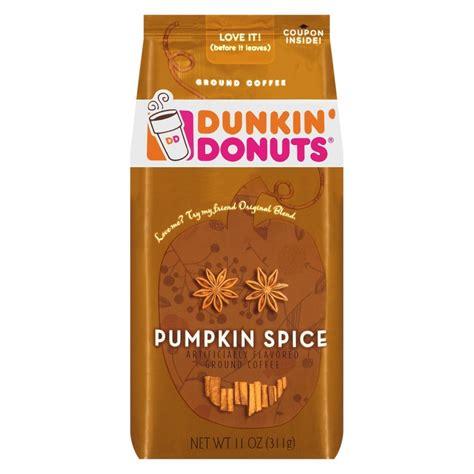 pumpkin spice for coffee dunkin donuts ground coffee pumpkin spice flavor 11oz