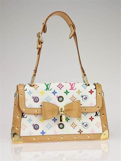 louis vuitton white monogram multicolore eye   bag