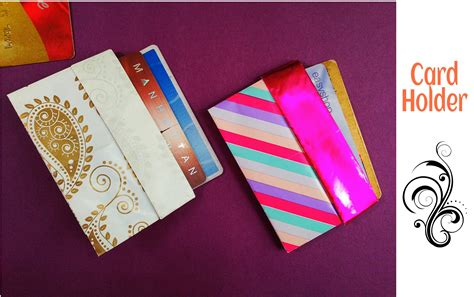 How To Make A Paper Card Holder - credit business card holder wallet diy useful