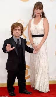 cast of game of thrones midget game of thrones actor peter dinklage his wife erica