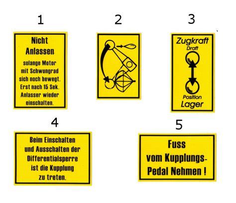 Dpd Aufkleber Bestellen by Deutz Aufkleber Fl Fm Baureihe Armaturenbrett Eil