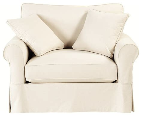Accent Chair Slipcover Baldwin Swivel Chair Slipcover Traditional Armchairs And Accent Chairs By Ballard Designs