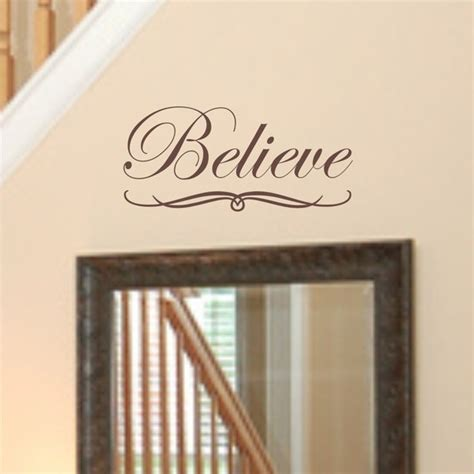 believe wall quote vinyl wall art decal by savvygalwalldecals