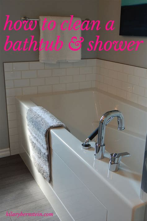 how do you clean a bathtub how to clean a bathtub and shower no place like home