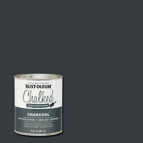 rust oleum 30 oz ultra matte interior chalked paint charcoal 285144 the home depot
