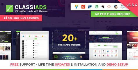 themeforest classified theme classiads v5 3 4 classified ads wordpress theme diddu