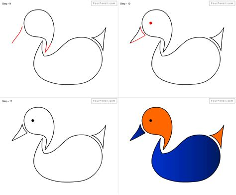 how to draw ducks fpencil how to draw duck for step by step