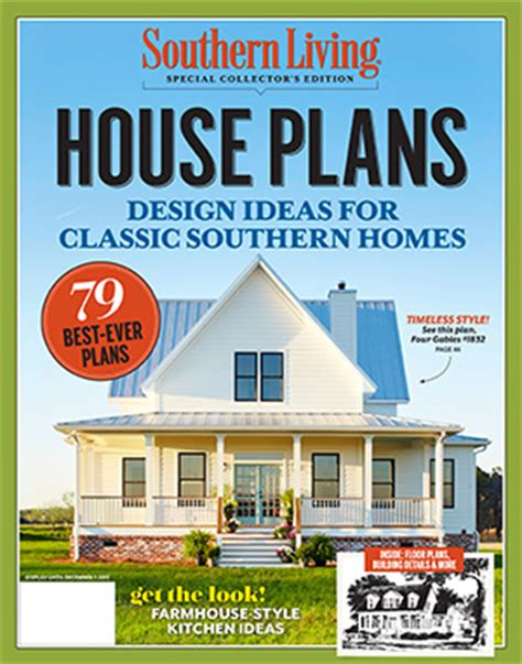 house plan magazines flint cottage southern living house plans