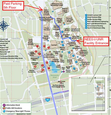 site map university of nevada reno getting to cus