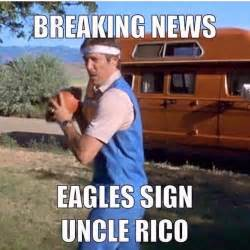 Funny Philadelphia Eagles Memes - breaking news eagles sign uncle rico