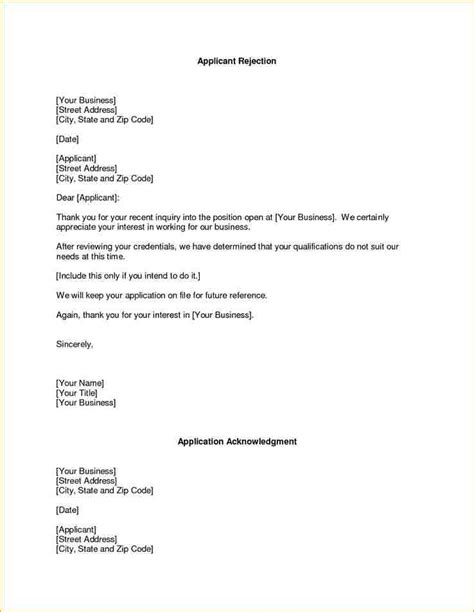 Regret Letter Recruitment 7 Letter Of Regret Sle Academic Resume Template