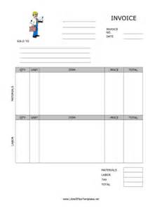 libreoffice invoice template invoice for contractor