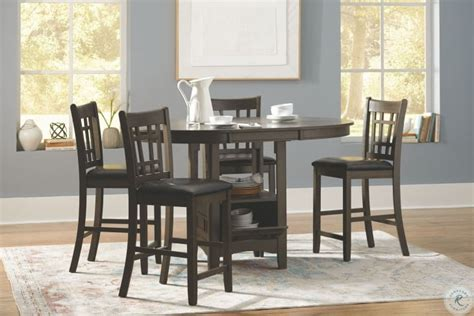 lavon medium gray extendable counter height dining room