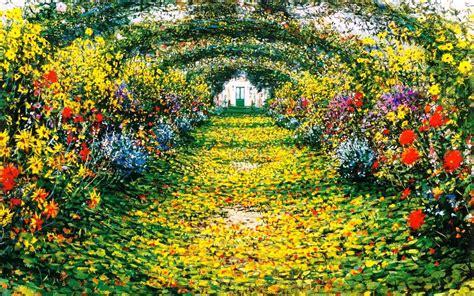 www flower garden flower garden paintings wallpaper