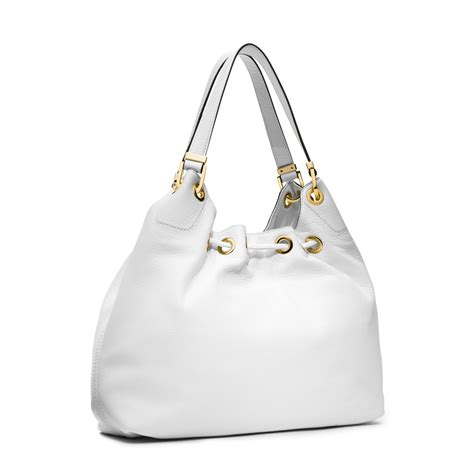 Tas Michael Kors Bag In Bag lyst michael kors camden large leather shoulder bag in white