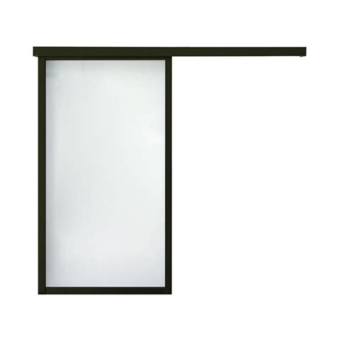 Frosted Glass Barn Door Shop Reliabilt 9851 Series Boston Wall Slider Frosted Glass Barn Interior Door Common 30 In X