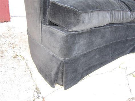 spectacular black velvet tufted crescent shaped curved