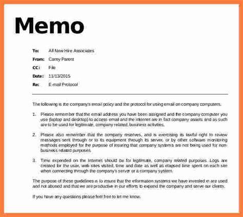 Memo To File Template