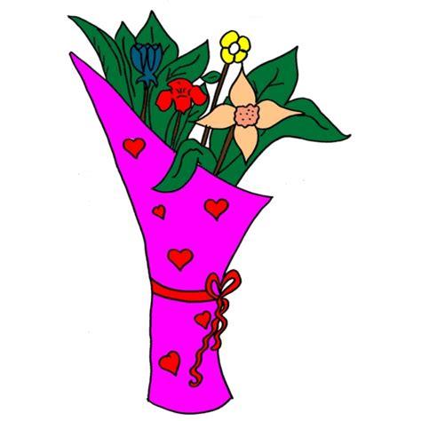 immagine mazzo di fiori disegno di mazzo di fiori a colori per bambini