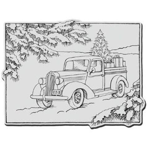 Christmas Truck Coloring Page | 17 best images about embroidery old cars trucks on