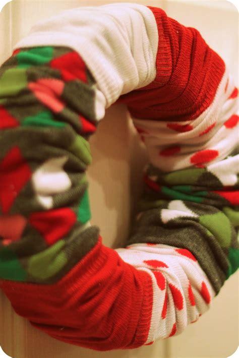 sock wreath wip sock wreaths