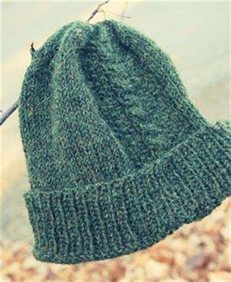 mens knit hat pattern circular needles hat allfreeknitting