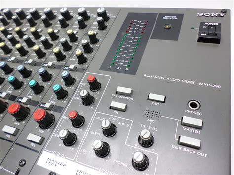 Mixer Audio Sony sony mxp 290 professional mixer 8 channel audio mixer