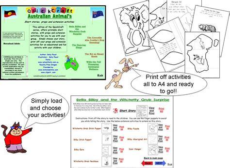 printable animal stories australian animals short stories printable props act