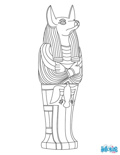coloring pages ancient egyptian gods anubis god of ancient egypt coloring pages hellokids com
