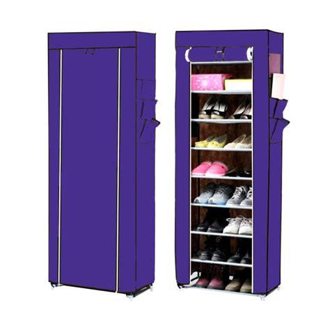 Jual Rak Sepatu Cover jual nine box rak sepatu ungu 10 cover 9 tingkat