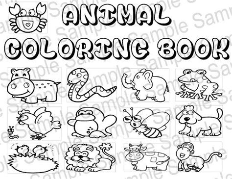 coloring books printable pdf animal coloring book pdf printable animals by