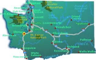 Washington City Map by Washington State Map Go Northwest A Travel Guide