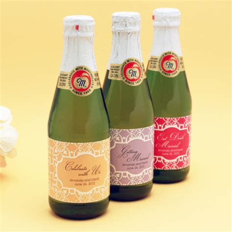 elegant damask sparkling cider mini bottles 12 pcs