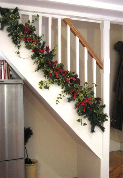 christmas banister ideas pin by nancy center on christmas ideas pinterest