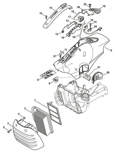 stihl ts400 parts diagram stihl ts410 ts420 air filter shroud parts stihl ts410