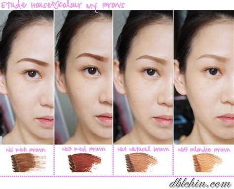 Etude Mascara Eyebrow review introduction to etude house color my brows