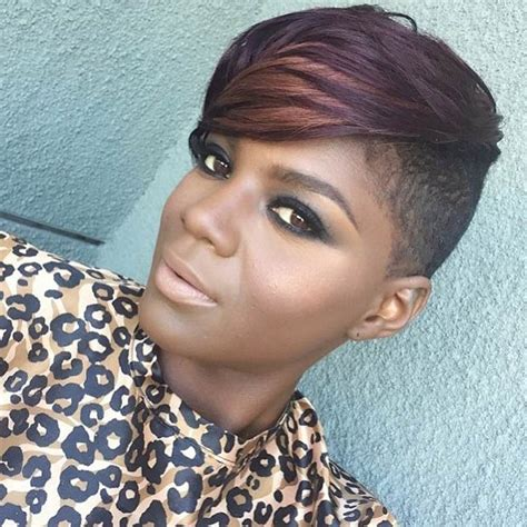 shave hair on one side black woman 23 most badass shaved hairstyles for women mohawks