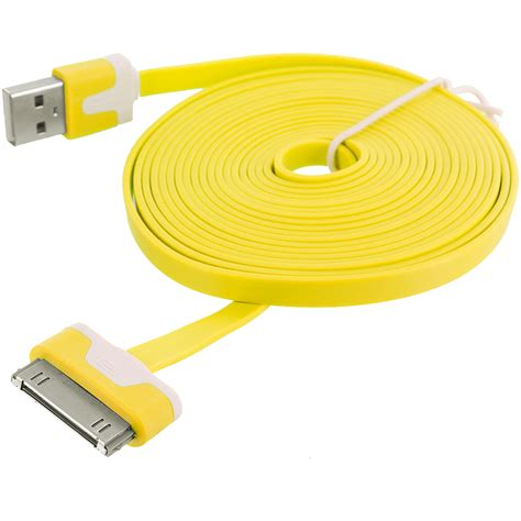 Usb Data Cable 10 ft noodle flat usb sync data cable cord 3m for iphone 4
