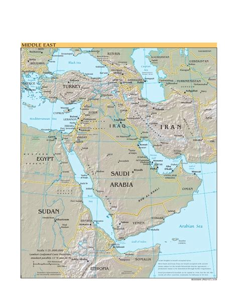 middle east map cia cia world factbook reference map middle east
