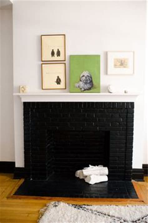 Black Painted Brick Fireplace by Painted Fireplace On Painted Fireplaces Black